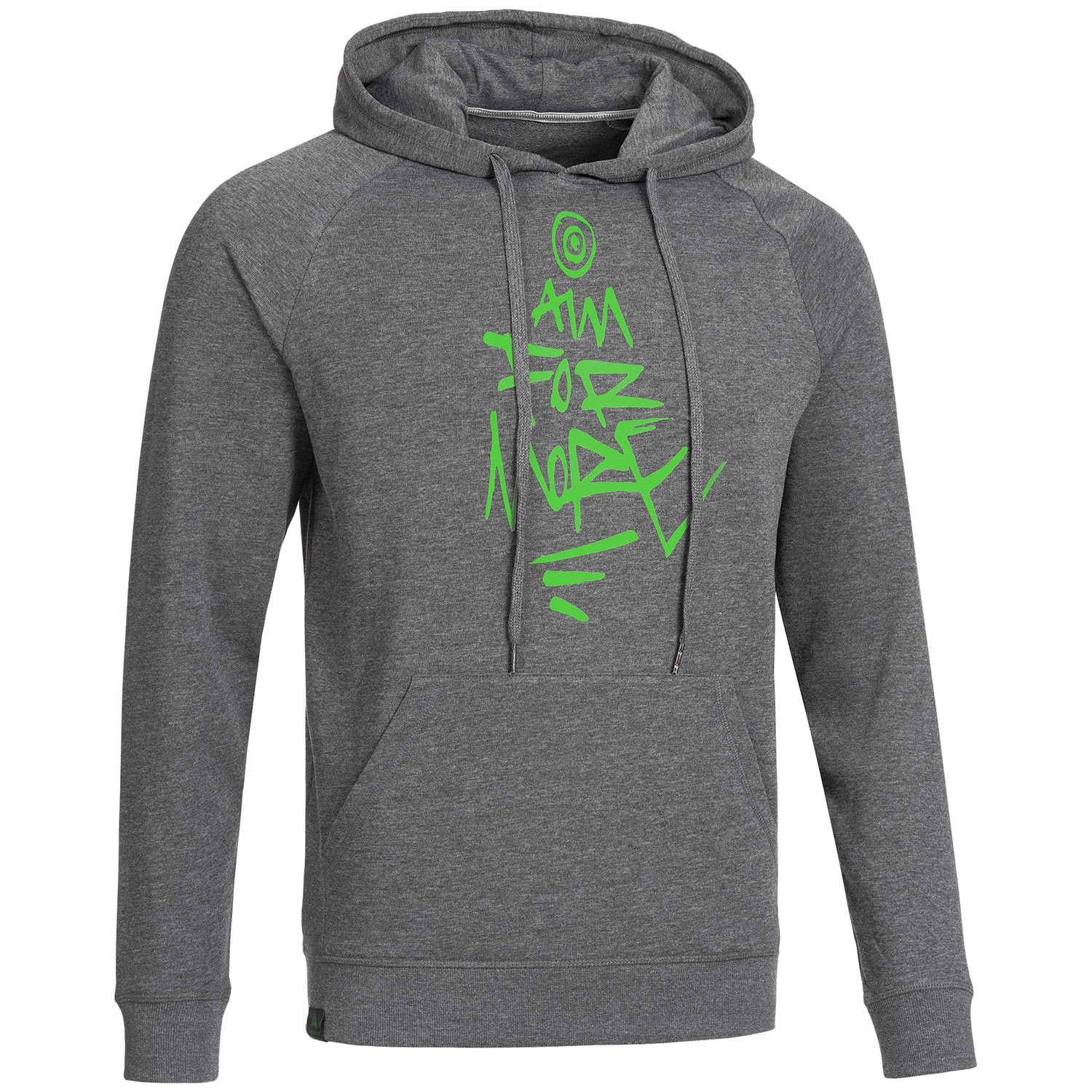 """Men's Bold Hoodie """"AIM FOR MORE"""" grey"""