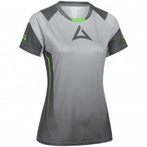 """Ladie's """"HERO"""" Team Jersey Short Sleeve grey/green"""