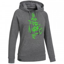 "Ladie's Bold Hoodie ""AIM FOR MORE"" grey"