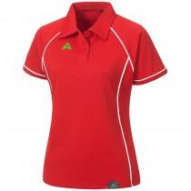 """Ladie's Tournament Polo """"PODIUM"""" red/white"""