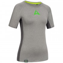 "Ladie's Workout Shirt ""CRUNCH"" grey"