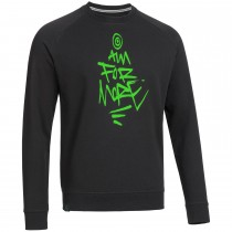 "Men's Bold Sweatshirt ""AIM FOR MORE"" black"