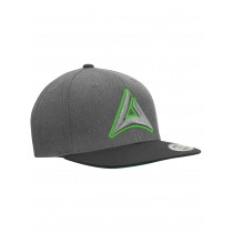 "Snapback Base Cap ""HEADBANGER"" charcoal/black"