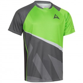 "Men's ""Skeleton"" Team Jersey Short Sleeve charcoal/green"