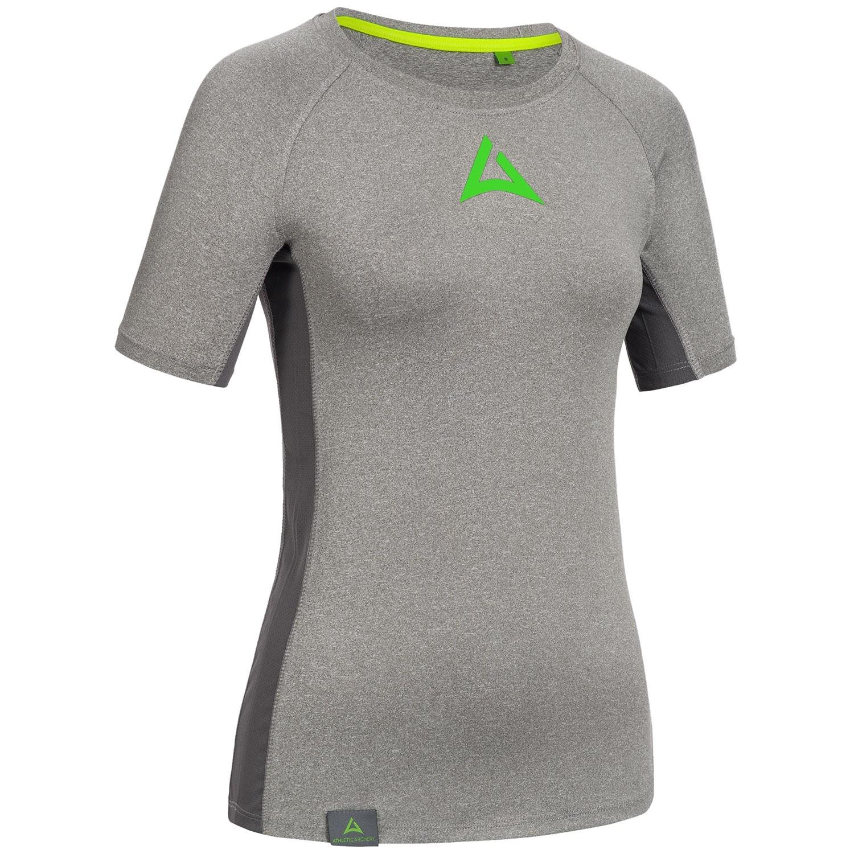 "Ladie's Workout Shirt ""CRUNCH"" grey"