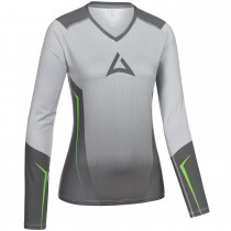 "Ladie's ""HERO"" Team Baselayer Long Sleeve grey/green"