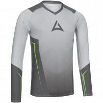 "Men's ""HERO"" Team Baselayer Long Sleeve grey/green"