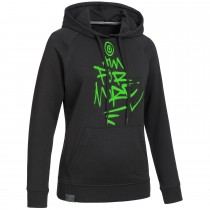 "Ladie's Bold Hoodie ""AIM FOR MORE"" black"