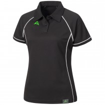 "Ladie's Tournament Polo ""PODIUM"" black/white"