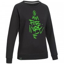 "Ladie's Bold Sweatshirt ""AIM FOR MORE"" black"