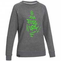 "Ladie's Bold Sweatshirt ""AIM FOR MORE"" grey"