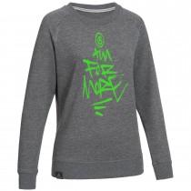 "Ladie's Bold Sweatshirt ""AIM FOR MORE"" grey"