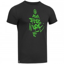 "Men's Bold T-Shirt ""AIM FOR MORE"" black"