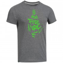 "Men's Bold T-Shirt ""AIM FOR MORE"" grey"