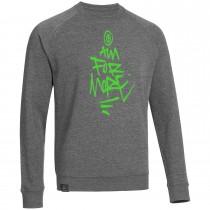 "Men's Bold Sweatshirt ""AIM FOR MORE"" grey"