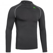 "Men's Baselayer Long Sleeve Shirt ""CAMPFIRE"" black"
