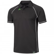 "Men's Tournament Polo ""PODIUM""  black/white"