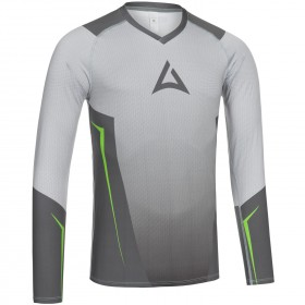"Men's ""HERO"" Team Baselayer Long Sleeve grey/green"